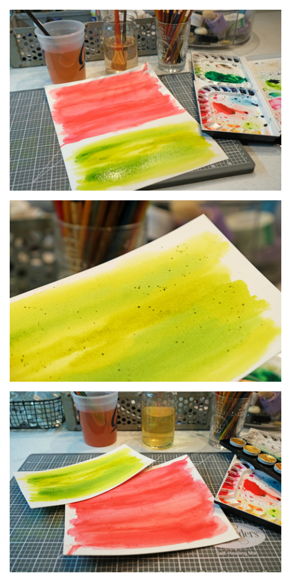 watercolors for die cutting christmas cards
