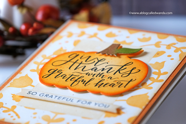 Autumn and Thanksgiving card with Taylored Expressions. DIstress inks and stencils
