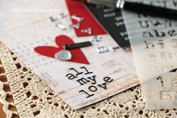 Tim Holtz Tiny Type for valentines