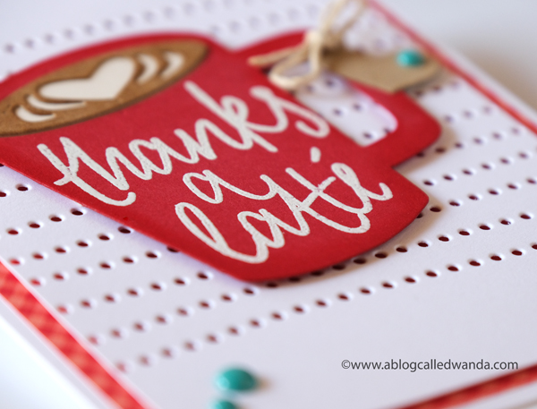 Coffee card ideas. Stamping and embossing