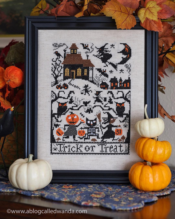 Prairie Schooler Trick or Treat Cross Stitch