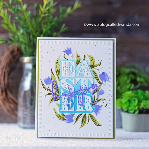The Greetery New Release Easter Cards and projects. Lily and Palm release. Caring Cross, Botanicuts Lily, Easter Jubilee Kit. Design Team Wanda Guess