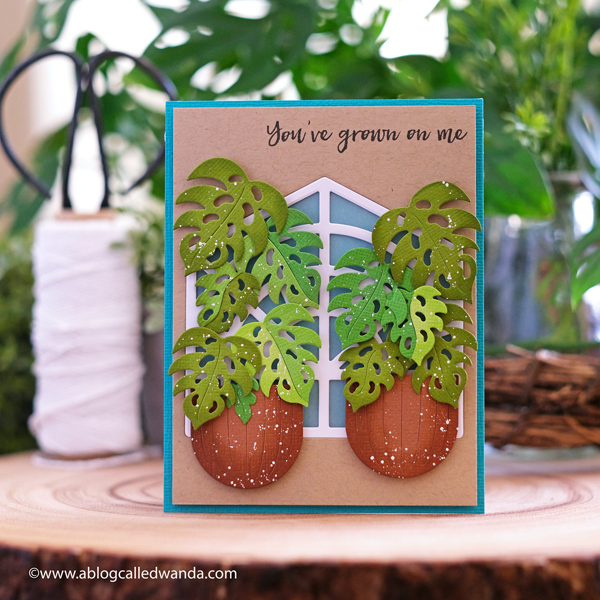 Hero Arts Layering Plants and Greenhouse dies. Card ideas from Hero. Hero Arts 2020 Catalog Blog Hop. Zest Wishes, Plants, spring. Card ideas with Hero Arts from A Blog Called Wanda