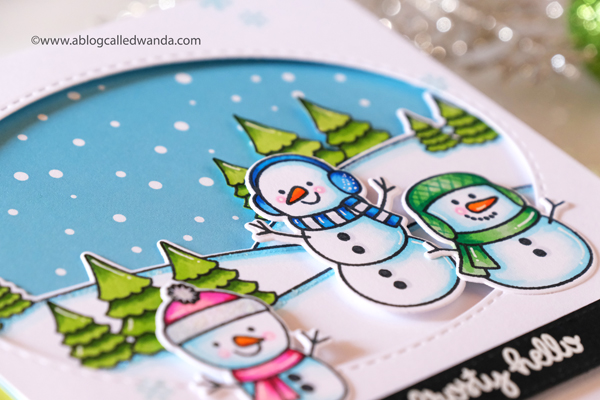 Sunny Studio snowman stamps and dies