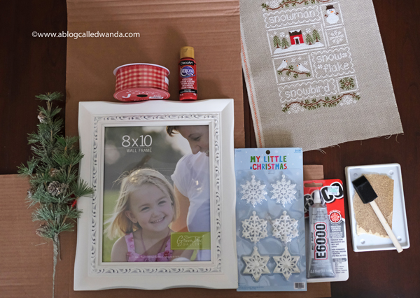 How to frame and finish your cross stitch projects. diy painted frame and bow