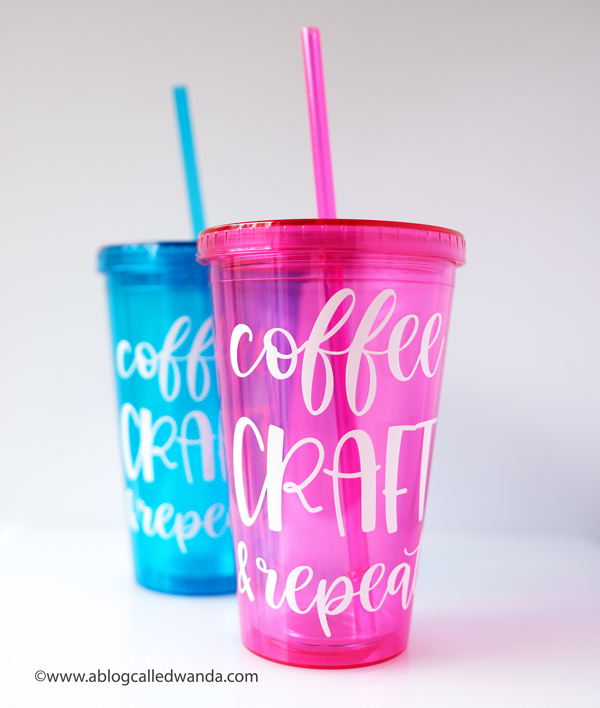 Cricut Joy and Cricut Permanent smart vinyl on plastic glass tumblers. Cricut Joy Machine and accessories. Reviews and tips to use Cricut Joy Machine. Wanda Guess