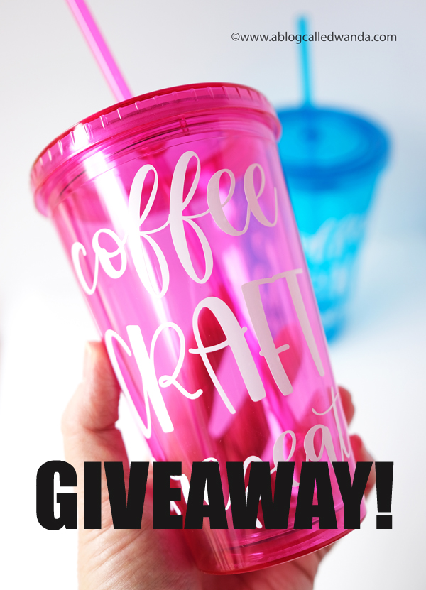 how to customize plastic tumblers with Cricut Smart materials. Cricut Joy Machine and accessories. Reviews and tips to use Cricut Joy Machine. Wanda Guess Giveaway!