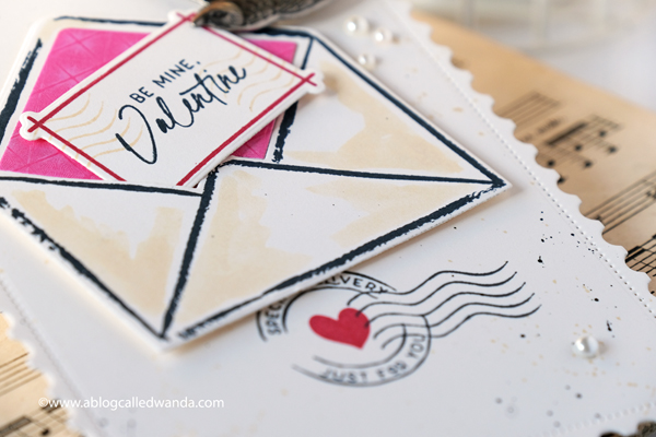 The Greetery Love Letters Collection. New release January 2020. Valentines cards mixed media stamping and die cutting. Wanda Guess