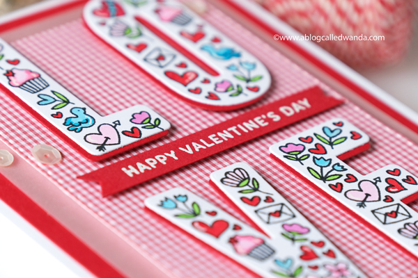 Valentine card ideas with stamps and dies. Copics. Embossing. Wanda GUess