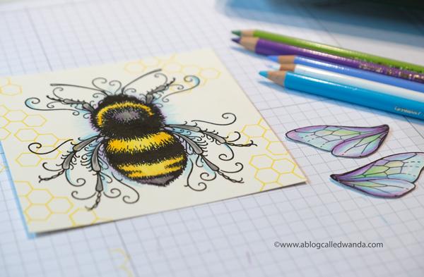 Pink Ink Designs UK Bee stamp