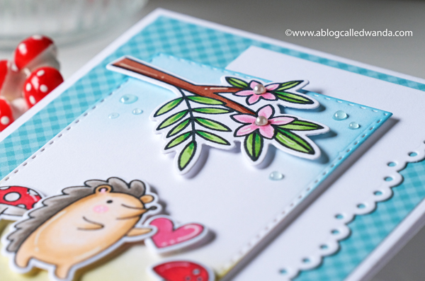 Pretty Pink Posh new release. Hedgehog Friends. Copic Marker coloring. Card ideas with clean and simple design. Wanda Guess