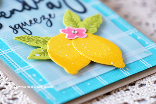 Lemon stamps and dies. Handmade card. The Greetery