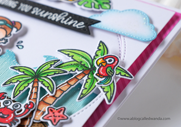 Tropical card ideas! Stamping and die cutting