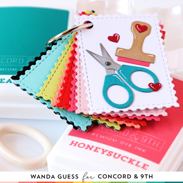 Concord & 9th Color Collection. Concord & 9th ink pads and matching cardstock. Cardstock swatch book! Crafty Turnabout Stamps. Crafty Dies and Tall Type alpha. Make your own swatches. Wanda Guess