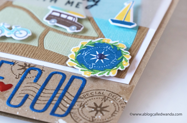 The Greetery new release destination summer july 2020. Maps stamps and dies and stencils. Destination stamp set, Destination Summer stamp set, Maps dies and stencils all from The Greetery. Cape Cod, Sedona, destination cards. Maps cards. Card layouts. Wanda Guess