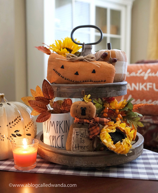 Fall Tiered Tray Ideas! Rae Dunn. Autumn. Home decor for Fall