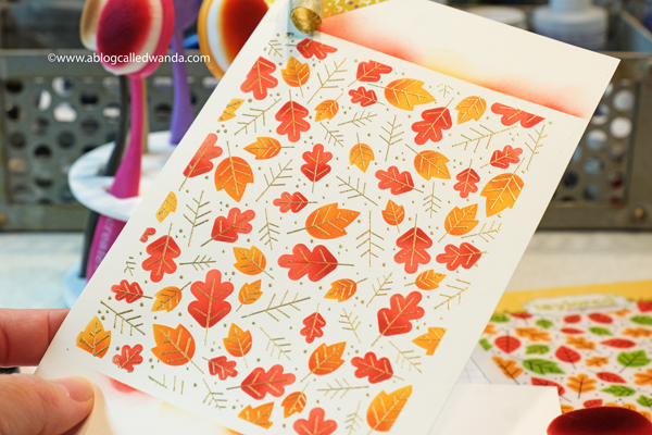 Taylored Expressions Fall Foliage Background stamps and stencils combo