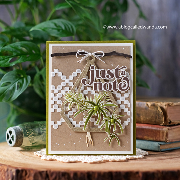 The Greetery new release Winter Wanderer Collection. Boho Banner Dies, Bigger Blooms, Macrame Dies, handmade cards, Opposites Attract stamp set, Simply Wonderful stamp set. Stamps and dies from The Greetery. Boho chic cards. DIY. Wanda Guess