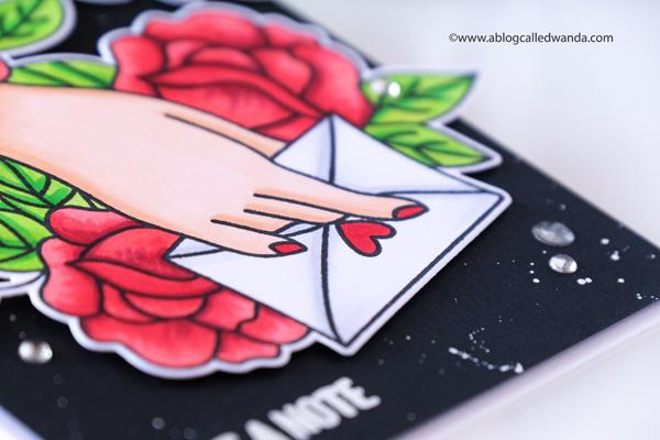 waffle flower, waffle flower stamps, waffle flower new release, waffle flower love letter stamps and dies, vintage, card, copics, valentine, love, handmade card, wanda guess, a blog called wanda