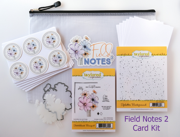 TAYLORED EXPRESSIONS FIELD NOTES 2 CARD KIT