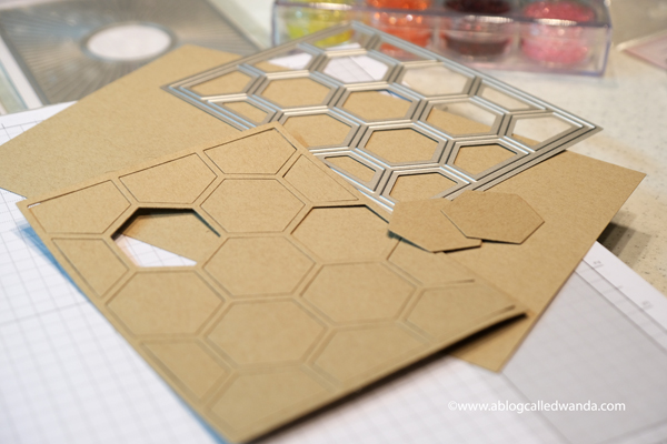 Pinkfresh Studio stamps hexagons die