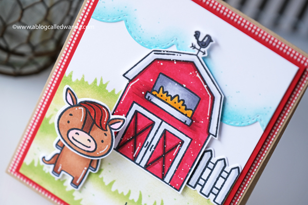 Taylored Expressions Card Kit, Farm Fresh Card Kit, Copics, Stencils, action wobbles, farm theme, gingham stamp, stamping, happy cards, card layouts, wanda guess for Taylored Expressions.