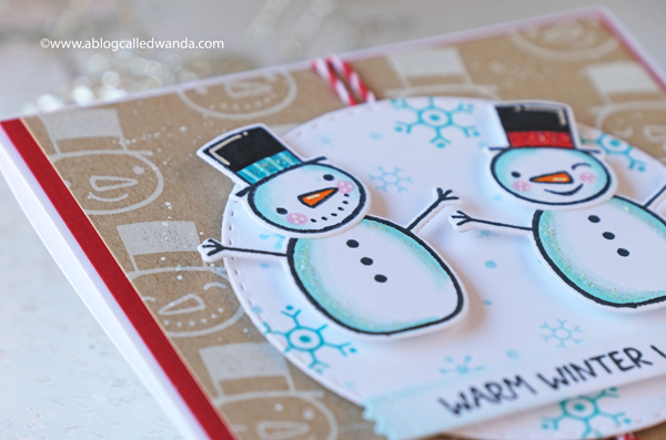 Taylored Expressions Card Kit, Baby it's cold outside card kit, snowman card kit, snowman stamps and dies, winter, christmas, handmade cards, card layout ideas, wanda guess