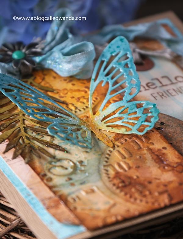 Tim Holtz Detailed Butteflies Sizzix dies with distress inks