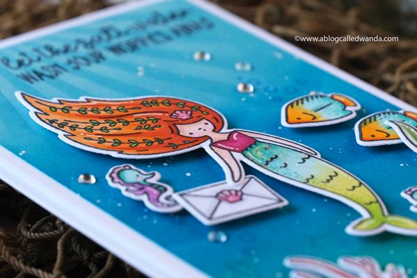 waffle flower mermaid card