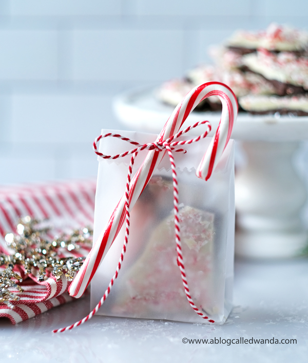Peppermint Bark Recipe. How to make peppermint bark and christmas treats. wanda guess. glassine bags
