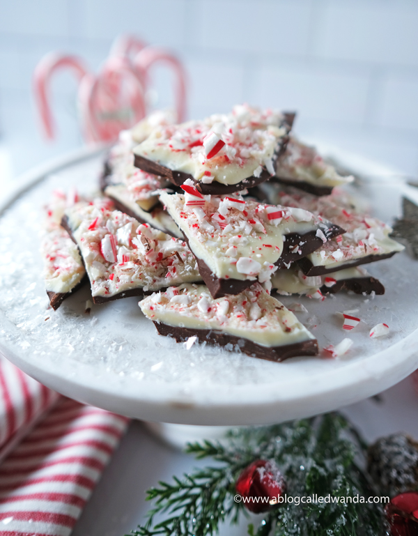 Peppermint Bark Recipe. How to make peppermint bark and christmas treats. wanda guess