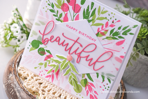 concord and 9th, concord & 9th, new release, turnabouts, turnabout jig, botanical turnabout, florals, handmade card, multi layer stamping, concord and 9th inks, misti, card ideas, birthday card ideas, wanda guess, a blog called wanda, concord and 9th feature friday