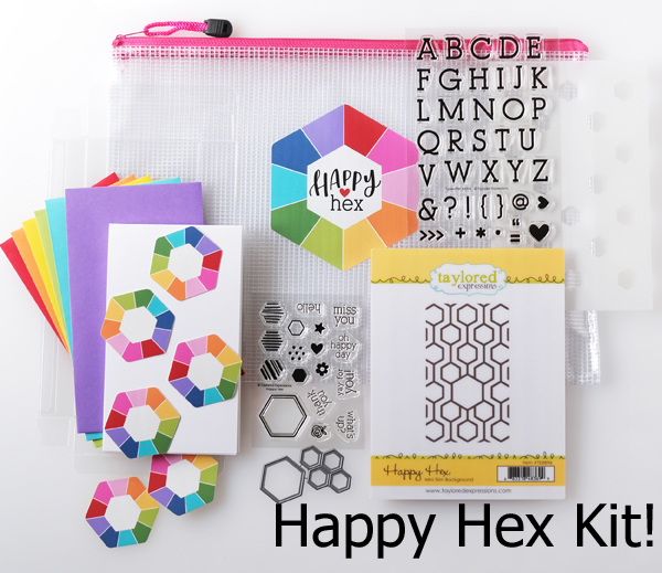 taylored expressions card kit, Happy Hex card kit, Taylored Expressions stamps and dies