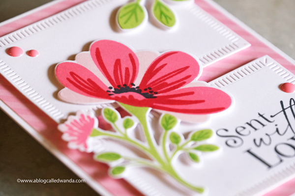 the greetery, the greetery stamps and dies, the greetery new release, Heart leaf jumbo posy die, forget me nots, flowers, lovely blossoms, postage dies, handmade cards, stamping, florals, valentines cards, nature lover release, distress ink, wanda guess, a blog called wanda