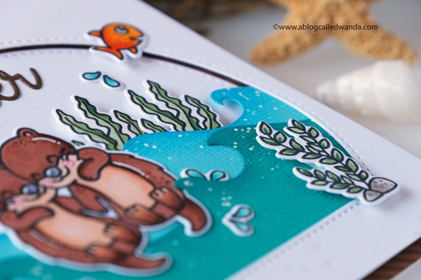 sunny studio stamps, guest designer, wanda guess, a blog called wanda, My otter half stamp set, otter stamps, ocean theme, handmade card ideas, copic markers, copics, scene, hot air balloon stamps, plane awesome stamp set, Balloon Rides stamp set, Country Scenes stamp set, slimline cards, diy, crafty