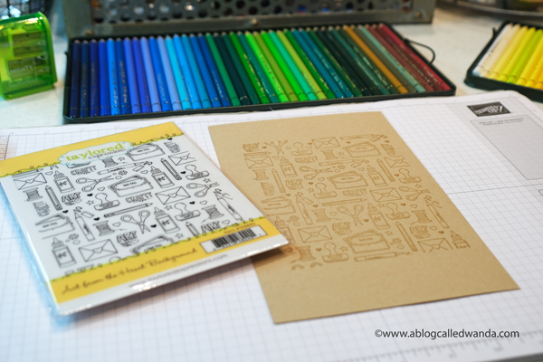 taylored expressions, taylored expressions art from the heart, taylored expressions craftiness is happiness, crafting, stamps, dies, handmade cards, pencils on kraft, polychromos, wanda guess, a blog called wanda