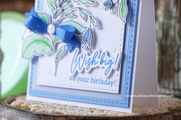 pinkfresh studio, pinkfresh studio folk garden, pinkfresh studio stamps and dies, florals, flowers, stencils, floral card, birthday card, pinkfresh studio blog hop, handmade, spring, bow dies, wanda guess, a blog called wanda