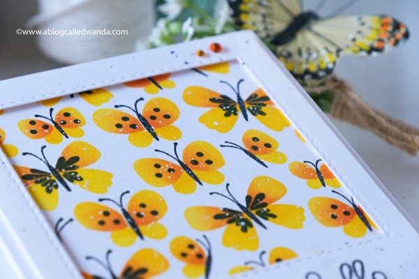 taylored expressions, taylored expressions card kit, butterfly wishes card kit, stamps, dies, butterfly stamp set, embossing, handmade cards, hand stamped cards, make your own cards, birthday card, stencils, ink blending, wanda guess, a blog called wanda