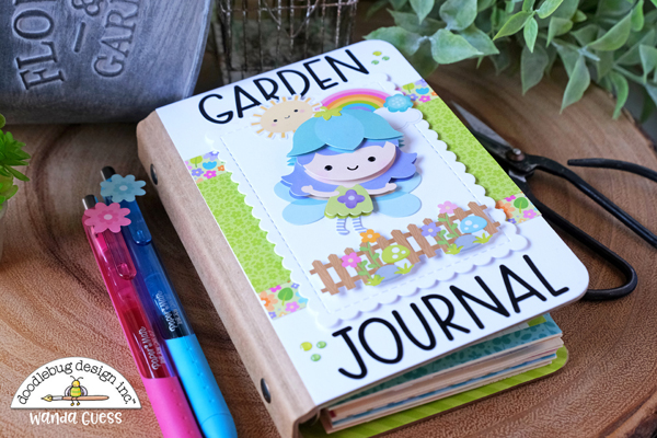 Doodlebug, Doodlebug Design, Doodlebug paper and stickers, Fairy Garden Collection, Garden Journal, DIY journal, Cute handmade book, Crafting, Scrapbooking, Ideas, Cute papers, Wanda Guess, A Blog Called Wanda