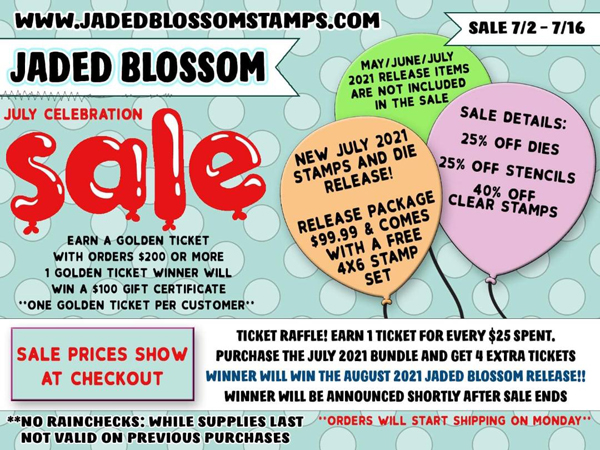 Jaded Blossom Stamps - Sale!