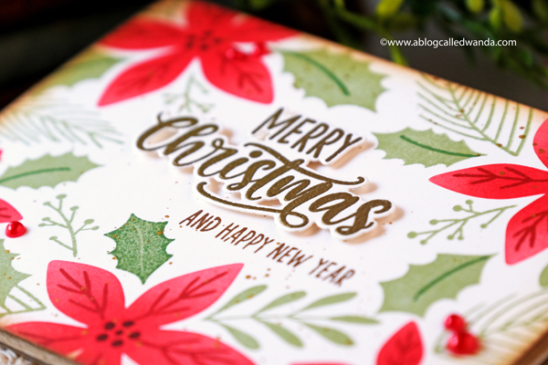taylored expressions, card kit, very merry, merry blooms card kit, christmas card kit, poinsettia, stencils, stamps, christmas cards, stamping, diy, make your own cards, taylored expressions stamps, blender brushes, wanda guess, a blog called wanda