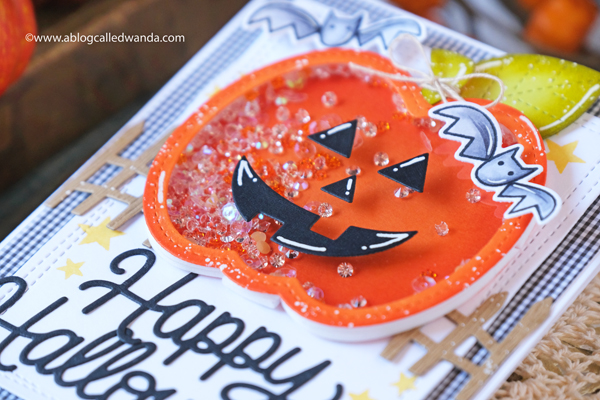 pretty pink posh, pretty pink posh new release, pretty pink posh halloween stamps and dies, halloween cards, halloween ideas, shaker card ideas, pumpkin shaker card, halloween card with stamps, stamping, make your own cards, crafts, halloween crafts, wanda guess, a blog called wanda