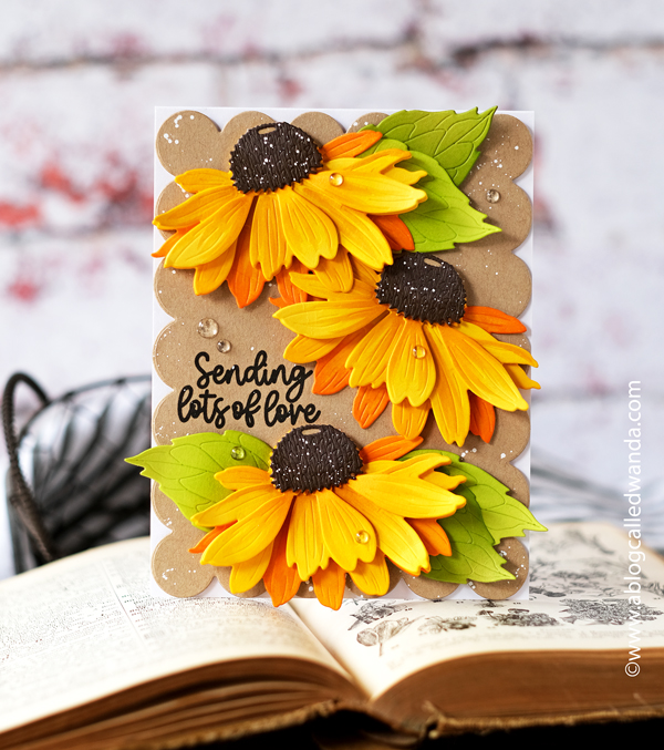 HONEY BEE STAMPS, HONEY BEE CONEFLOWERS, DIES, STAMPING, HANDMADE CARD, CARD IDEAS, WAFFLE FLOWER, SIMON SAYS STAMP, COPICS, FLOWER CARDS, MAKE YOUR OWN CARDS, HONEY BEE LOVELY LAYERS DIES, WANDA GUESS, A BLOG CALLED WANDA