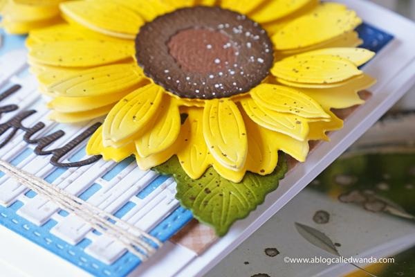 honey bee stamps, honey bee fall, honey bee autumn splendor release, sunflowers dies, bitty buzzwords dies, fence die cut, sunflower card, make your own card, scrapbooking, card ideas, stamping, thankful, autumn, wanda guess, a blog called wanda