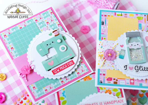 doodlebug, doodlebug paper, doodlebug design, doodlebug cute and crafty, doodlebug card ideas, card layout, doodle pops, fun cards for crafters, make your own cards, handmade, diy, craft theme, wanda guess, a blog called wanda