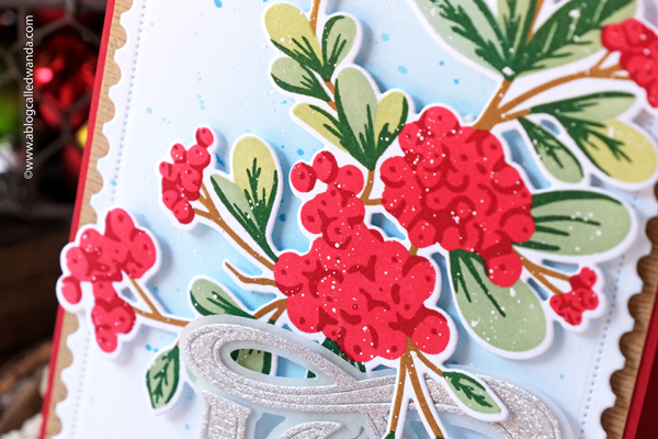 the greetery, christmas time collection, christmas release, new release, winter, holiday, the greetery stamps and dies, winterberry bouquet, stencils, stamps, dies, christmas cards, cathedral die, pine wisps,abundand joy die, hot foil, opposites attract, wanda guess, a blog called wanda