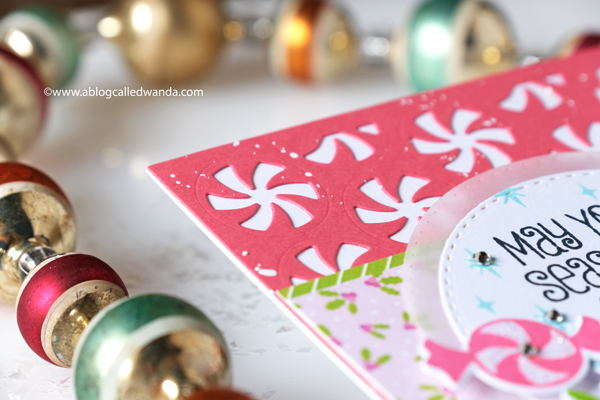 Catherine Pooler stamps and dies. Holiday cards. Peppermint Twist Cover plate, sweetest season stamp set, Christmas card ideas, Wanda Guess