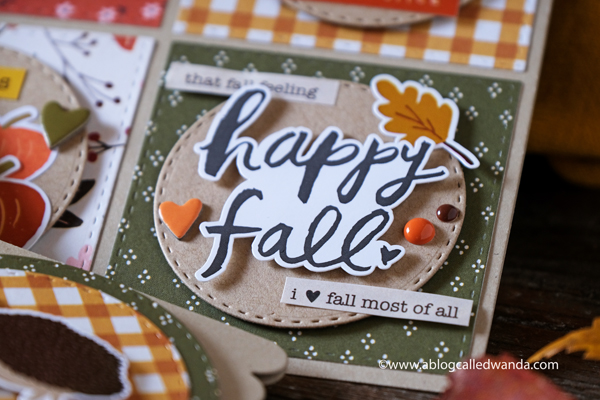Simple Stories Cozy Days paper collection. Cards made with patterned paper and stamps. Fall and Autumn Card Ideas. Wanda Guess