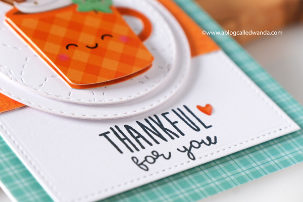 Doodlebug paper, Doodlebug stamps, Doodlebug Pumpkin Spice, stamping, die cutting, Doodle pops, Pumpkin Spice Latte, crafting, handmade cards, cardmaking, card ideas, card layouts, Fall cards, Wanda Guess, A Blog Called Wanda