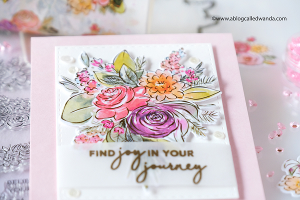 pinkfresh studio, pinkfresh studio washi tape, joyful bouquet, cardmaking, washi tape ideas, flowers, florals, card ideas, handmade, new products, clean and simple cards, wanda guess, a blog called wanda